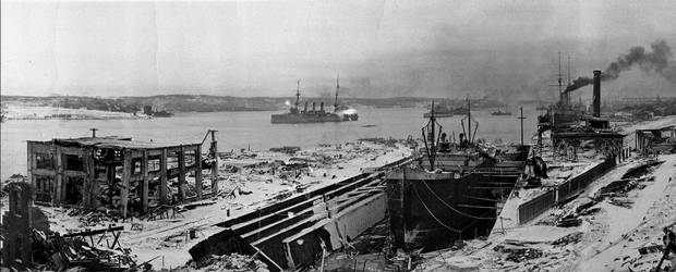 A view of Halifax after the explosion, facing south.