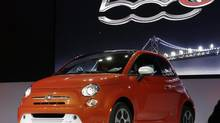 The Fiat 500e debuts at the L.A. Auto Show. Who knew an EV could be sexy? (Chris Carlson/AP)