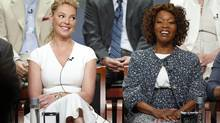 "Katherine Heigl, left, (with Alfre Woodard) grabbed the spotlight when she revealed she didn't consider herself hard to work with. (L) and Alfre Woodard (R) laugh during a panel for the television show ""State of Affairs"" at the Television Critics Association NBCUniversal Summer Press Tour in Beverly Hills, California July 13, 2014. REUTERS/Danny Moloshok (UNITED STATES - Tags: ENTERTAINMENT) (DANNY MOLOSHOK/REUTERS)"