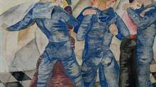 Detail from Dancing Sailors, by Charles Demuth (1917)