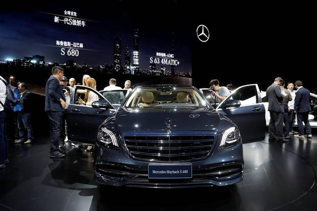 The new Mercedes-Maybach flagship model, the S 680, was revealed at an event ahead of the Shanghai show.
