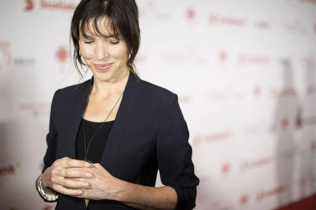 Rachel Cusk, nominated for her book Transit, arrives at the Giller Prize ceremony in Toronto on Nov. 20, 2017.