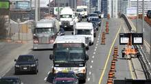 Traffic heads down Toronto's Gardiner Expressway in April, 2014. (FRED LUM/THE GLOBE AND MAIL)