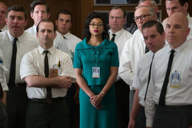 Katherine G. Johnson (Taraji P. Henson), stands out amid her team of fellow mathematicians in Hidden Figures.