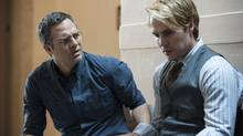 THE NORMAL HEART: left to right- Mark Ruffalo, Taylor Kitsch. (Jojo Whilden/HBO)