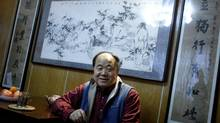 "Chinese writer Mo Yan smiles during an interview at his house in Beijing December 24, 2009. Mo Yan won the 2012 Nobel prize for literature on October 11, 2012 for works which the awarding committee said had qualities of ""hallucinatory realism"". Picture taken December 24, 2009. (CHINA DAILY/REUTERS)"