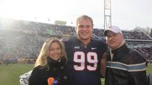 Brett Urban, with his father, Vic, and mother, Ann, is projected to be picked anywhere from the second to the fourth round of the NFL draft, which runs Thursday, May 8, 2014, through Saturday, May11, 2014.