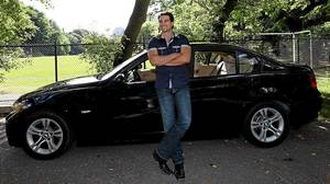 Scott McGillivray is driving his third BMW 3-Series car.