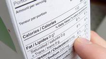 Under a new proposal by the Canadian government, food labels would list the share of daily recommended intake of sugar – a component that is linked to obesity, heart disease and tooth decay – as well as a second line item indicating how much sugar has been added by the manufacturer. (iSTOCKPHOTO)