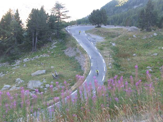 A journey on the Cent Cols in the French Alps takes cyclists to the border between Les Hautes-Alpes and Les Alpes-de-Haute-Provence.