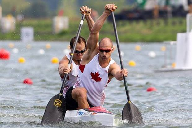 Gabriel Beauchesne-Sévigny, paddling behind boat partner Benjamin Russell, sees the Smith MBA as a way to transition his career into business after 14 years on the national team.