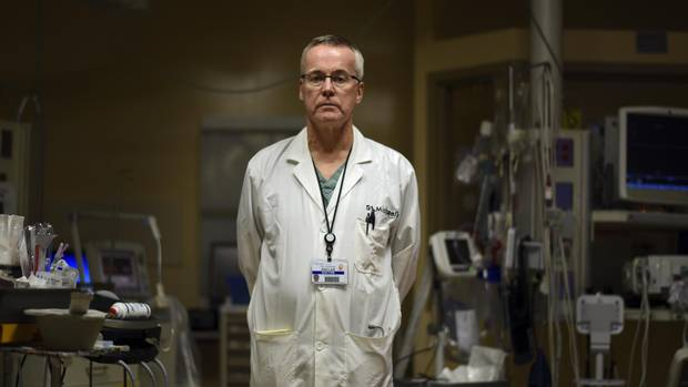 Dr. Douglas Sinclair is photographed in the trauma room at St. Michael's Hospital on Oct. 20, 2016.