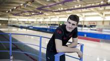 Denny Morrison in the Olympic Oval gym in Calgary: 'I've looked at how Sidney Crosby handled things. He was concussed and came back a few times, then he took his time and did a summer of training and now he's gotten stronger than ever. That's the route I want to take. I want to come back and be back.' (Chris Bolin For The Globe and Mail)