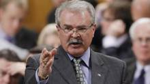 Agriculture Minister Gerry Ritz stands in the House of Commons during Question Period in Ottawa, Monday April 23, 2012. (FRED CHARTRAND/THE CANADIAN PRESS)