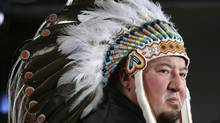 Derek Nepinak and other Manitoba chiefs are calling for a second meeting with Prime Minister Stephen Harper on Jan. 24. (PATRICK DOYLE/REUTERS)
