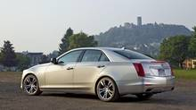 The longer and leaner 2014 Cadillac CTS is a serious challenger to the BMW 5 Series. (General Motors)