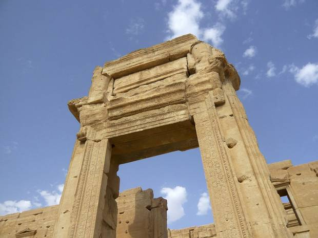 The Temple of Bel is shown on Aug. 4, 2010.