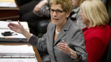 Premier Kathleen Wynne speaks at Queen's Park in Toronto , Ontario, Tuesday February 18, 2014. (Kevin Van Paassen/The Globe and Mail)