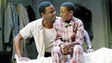 "Charles Officer and Kofi Payton in Soulpepper's ""A Raisin in the Sun"". (Trudie Lee)"