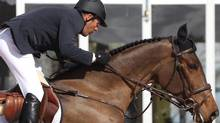 Canadian equestrian rider Eric Lamaze rides new horse Luikka in a handout photo. Lamaze has added several new horses to his stable as he looks towards defending his Olympic gold medal this summer without long-time mount Hickstead. THE CANADIAN PRESS/HO-Sportfot (HO-Sportfot/CP)