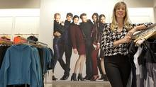 Lindsay Cook, director of marketing, Joe Fresh, home and entertainment for Loblaw Cos. Ltd., stands in a Joe Fresh store on Queen Street West at Portland Street in Toronto on Oct. 18, 2012. (Deborah Baic/The Globe and Mail)