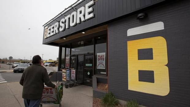 A Beer Store location in Oakville, Ont. shows the extent of the store's rebranding effort. The test project has been rolled out in four Greater Toronto stores, just in time for the May long weekend. (Deborah Baic/The Globe and Mail)