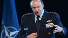 General Philip Breedlove, Commander of U.S. European Command and NATO Supreme Allied Commander Europe, speaks at a press conference at the Canadian War Museum in Ottawa on Monday, May 5, 2014. (Sean Kilpatrick/THE CANADIAN PRESS)