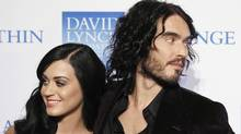 Singer Katy Perry arrives with her husband, actor Russell Brand, for the annual David Lynch Foundation benefit celebration in New York in this December 13, 2010. (File photo | Lucas Jackson | Reuters/File photo | Lucas Jackson | Reuters)