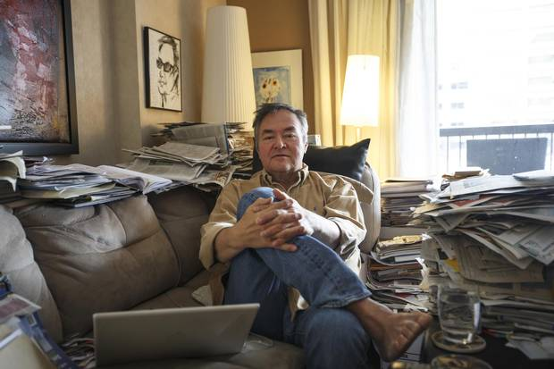 Dene filmmaker Raymond Yakeleya, seen at home in Edmonton in November, is attempting to preserve his family's traditions and history.