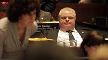 Toronto City Mayor Rob Ford leans back in his seat during the budget debate at City Hall in Toronto on January 17, 2012 (Deborah Baic/The Globe and Mail/Deborah Baic/The Globe and Mail)