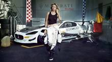 Maserati will be featured in the Sports Illustrated Swimsuit issue, where the magazine devotes seven pages to the car maker's new lineup and Heidi Klum. (Maserati/Sports Illustrated)