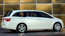 The Honda Odyssey Concept made its debut at the 2010 Chicago Auto Show in February, 2010. (Honda/Wieck)
