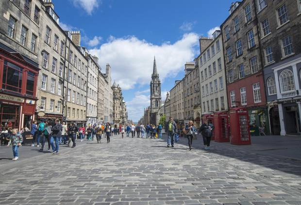 The Royal Mile, Edinburgh's historic spine, is an arterial homage to the medieval city's past, but also showcases many of its modern trappings.