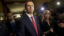 Former Premier Dalton McGuinty leaves a justice policy committee meeting after answering questions about deleted emails relating to two cancelled gas plants at Queen's Park in Toronto, Ont. Tuesday, June 25, 2013 (Kevin Van Paassen/The Globe and Mail)
