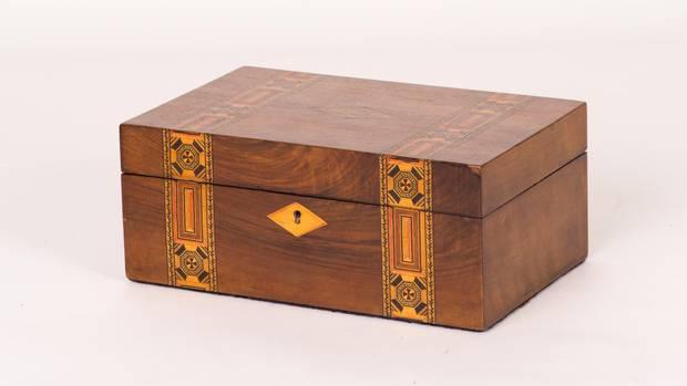 Antique 1860 English walnut box, $975 (U.S.) at Lee Stanton (www.leestanton.com).