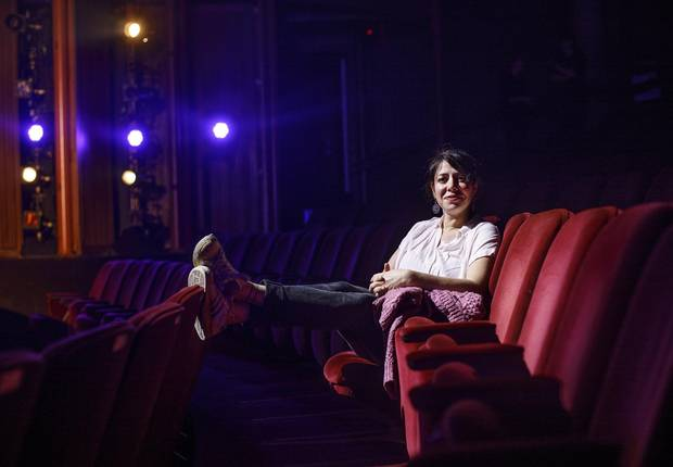 Rachel Chavkin pictured in the Citadel Theatre in Edmonton Alberta, November 15, 2017. Chavkin developed and directed the play Hadestown which is making its world debut in Edmonton on Nov. 16.