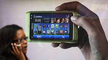 In 2007 Nokia's smartphone market share was about 50 per cent with the Symbian software also used then by other manufacturers. (LUKE MACGREGOR/Reuters)
