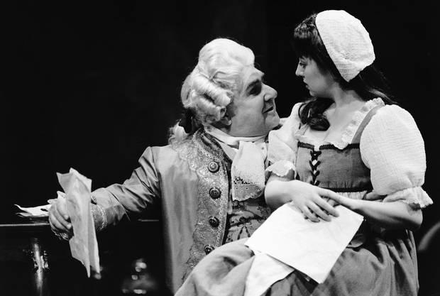 Heath Lamberts and Krista Jackson in Quills, directed by Steven Schipper, in 1997.