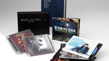 In this photo released Wednesday July 5, 2006 by Universal Music Group International the companies three levels of packaging for their artist's CD's. (AP)