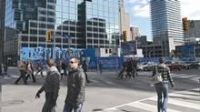 One Bloor East site at the corner of Yonge and Bloor streets, Toronto. (Andrej Kopac/Andrej Kopac)