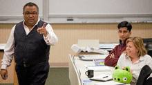 Ariff Kachra, Strategy Professor at the Richard Ivey School of Business in London, Ontario jokes with his class October 19, 2011. Professor Kachra uses innovative teaching methods like the use of stuffed animals to illustrate points in his class. (GEOFF ROBINS/The Globe and Mail/GEOFF ROBINS/The Globe and Mail)