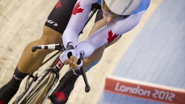 Canada's Zach Bell competes in the men's omnium 4km individual pursuit at the 2012 Summer Olympics in London, Sun. Aug. 5, 2012. (Kevin Van Paassen/The Globe and Mail)