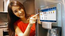 Smart refrigerators, like this one from South Korean appliance-maker Samsung, are already being rolled out.