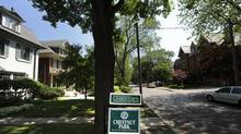 A home for sale last June in Toronto. TD Economics pegs the current overvaluation in the market at about 10 to 15 per cent. (Fred Lum/Fred Lum/The Globe and Mail)