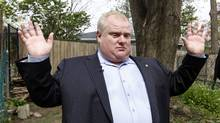 Toronto Mayor Rob Ford talks to reporters on May 3, 2012. (Fernando Morales/Fernando Morales/The Globe and Mail)