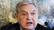 George Soros speaks during a news conference at the World Economic Forum in Davos, Switzerland. (ARND WIEGMANN/ARND WIEGMANN/REUTERS)