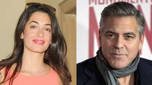 George Clooney and Amal Alamuddin are rumored to be engaged