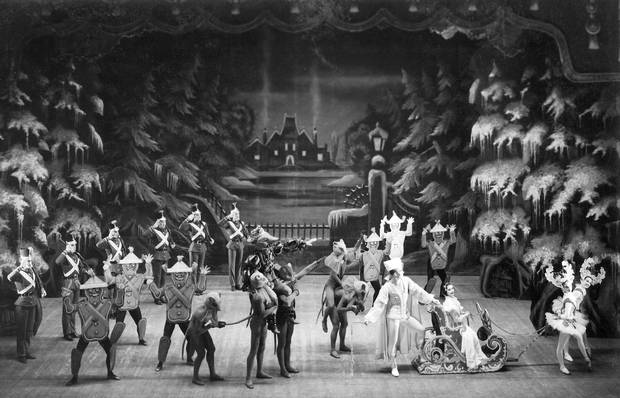 Nut2DAA2 David Adams with Artists of the Ballet in The Nutcracker, Act II (1956).