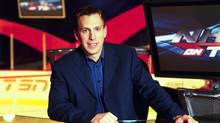 James Duthie on TSN set. Nov. 2002 .