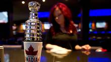 A miniature Stanley Cup is seen on a beer tap in downtown Vancouver, B.C., on Monday April 23, 2012 (Darryl Dyck/The Globe and Mail/Darryl Dyck/The Globe and Mail)